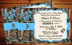 IT'S A BOY Camo Baby Shower Invitation by Momentsinlifedesigns FOR SURE PURCHASING, JUST NEED TO FIGURE OUT SPECIFICS FIRST!!