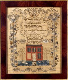 Antiques & Fine Art - Finkel, M. & Daughter - Outstanding Pennsylvania Sampler by Mary Ann Crown