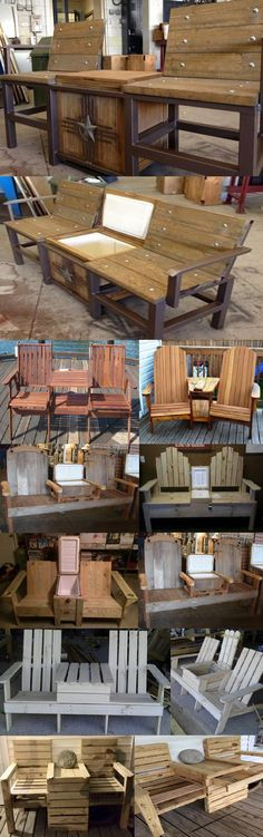 JACK AND JILL CHAIRS! Two Chairs with a table/cooler in the middle!