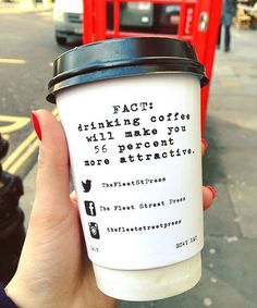 One more reason to drink more coffee ☕️☕️. We love these takeaway cups from Press coffee and co . Photo by @the_food_perv