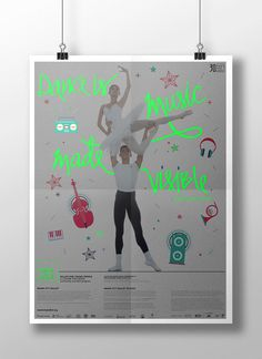 Poster design for Ballet for Young People. #neon #poster #ballet #MiamiCityBallet #design