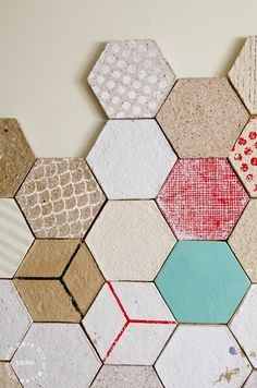 Wallpapering tiles made from recycled paper by Dear Human. BEST OF MILAN DESIGN WEEK 2015 | Yatzer