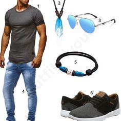 Lässiges Herren-Outfit mit Surfer-Style (m0364) #outfit #style #fashion #inspiration #womenswear #womensoutfit #womenwear #womensstyle #damenmode #frauenmode #mode #styling #schuhe #sneaker #dress #summerstyle