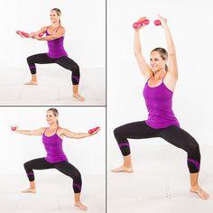 Barre Workout: Plie Port de Bras - Home Workout Plan: 7 Ballet-Inspired Moves for Long, Lean Muscles - Shape Magazine Barre Moves, Barre Exercises At Home, At Home Workouts, Barre Workouts, Pilates Workout, Home Barre Workout, Workout Fun, Thigh Workouts, Daily Workouts