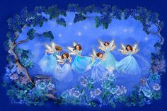 Beautiful fairies by Penny Parker Fairy Dust, Fairy Land, Fairy Tales, Magic Fairy, Vladimir Kush, Thomas Kinkade, Woodland Creatures, Mythical Creatures, Beatrix Potter