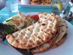 Coastal Bite, Westcliff-on-Sea - tuna flatbread. A fantastic 'sandwich' full of tuna, capers, onion and tomato.