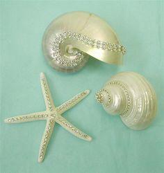 Beach Decor Shells - Crystal Embellished
