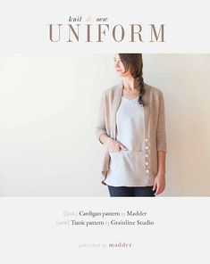 Purchase together with UNIFORM Littlefor a discount! You can now order this inspiring and timeless pattern book. UNIFORM knit & sew is a beautiful collaboration between Madder and Grainline Studio. E-Book will beemailed immediately Book includes: Knit instructions for UNIFORM Cardiganby Madder. Atop down cardi