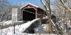 Covered bridge in Lancaster County, PA. • Repinned by The Lancaster List • www.thelancasterlist.com