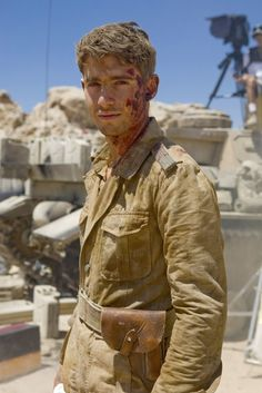 Why is this so perfect. :O Cameron Walker!!! As a soldier!