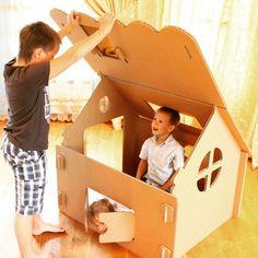 Кто здесь? #игровойдомик #игрушка #подарокребенку #наш #дом #инстадети #cardboard #house #paperhouse #kids #play #who #is #it  #madeofpaper