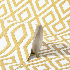 Add a warm splash of colour to any room with this retro mustard wallpaper from Erismann's Fascination Collection. Available at Go Wallpaper UK Hall Wallpaper, Glitter Wallpaper, Mustard Wallpaper, Contemporary Paintings, Pattern Wallpaper, Art Day, Fascinator, Color Splash, Art Photography