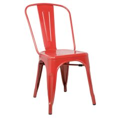 Tolix Style Dining Chair Red