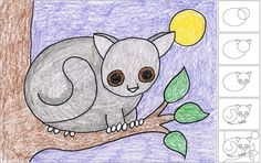 Art Projects for Kids: How to Draw a Bushbaby