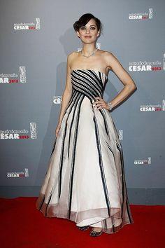 MC In Dior Cesar Awards...beautiful dress.