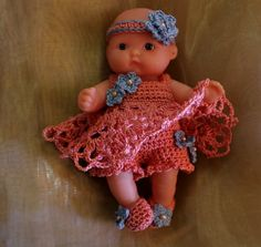 "5"" Berenguer Doll dress pattern by Brianette Botha"