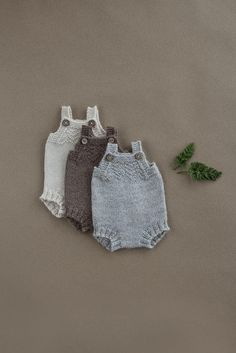 Hand knit baby romper baby onesie knitted baby clothes baby