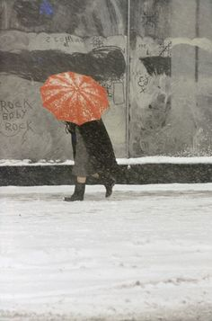 by Saul Leiter, Red Umbrella, c. 1958.