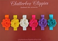 Baby Hair Clips Baby Barrettes Toddler Hair by ChatterboxClippies, $19.99