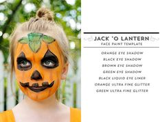 DIY Jack -O-Lantern Face Painting Free Template - # Secrets That You Need To KNow