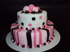 """The Pink polka Dots and Stripes"" (2)"