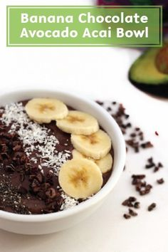 Banana Chocolate Avocado Acai Bowl is a chocolaty breakfast, lunch, or afternoon snack that's surprisingly healthy and packed with antioxidants. This bowl of creamy, messy deliciousness goes with any of your other favorite fruit too, like sweet raspberries or tart pomegranate seeds.