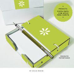 Produto: Porta-papel com apoio para caneta By Dalva Marim - Todos os direitos reservados