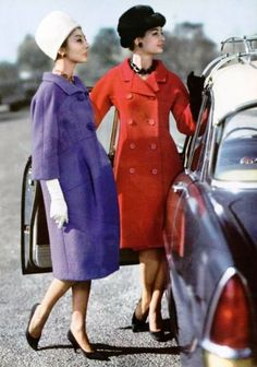 Givenchy, December 1959. The silhouette of each of these coats and the colors... c'est magnifique!