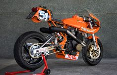 """Laverda-based """"Monty"""" built by XTR Pepo. I'm still waiting for someone to resurrect Laverda, this bike shows some of the potential of the heritage, if that wasnR… Cafe Racer Motorcycle, Racing Motorcycles, Motorcycle Workshop, Motorcycle News, Motorcycle Garage, Ducati, Stunt Bike, Motorcycle Manufacturers, Cafe Racer Build"""