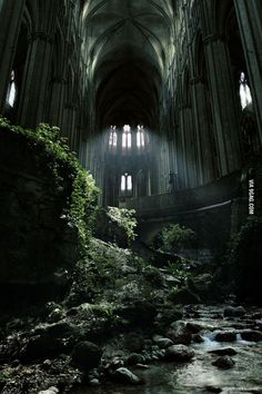 Awesome abandoned church is awesome (Caen, France). Also reminds me of Final Fantasy: Advent Children: