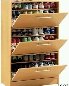 Neutral shoe cabinet diy plans tips for 2019 - Schuhschrank Diy Shoe Rack, Wooden Shoe Racks, Shoe Cabinets, Upper Cabinets, Shoe Storage Cabinet, Shoe Cabinet Design, Storage Rack, Shoe Cabinet Entryway, Baby Storage