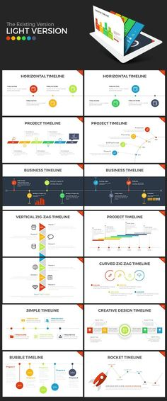 Timelines and Gantt Charts for PowerPoint Timeline, Chart and Texts - roadmap powerpoint template