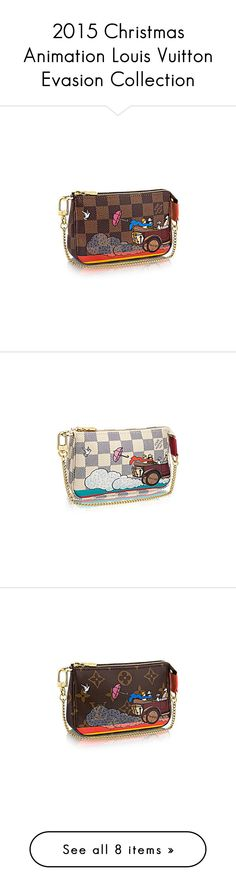 """2015 Christmas Animation Louis Vuitton Evasion Collection"" by stellernoemi ❤ liked on Polyvore featuring bags, handbags, clutches, wallets, home, home decor and stationery"