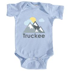 Truckee, California Mountains and Clouds in Color - Infant Onesie/Bodysuit