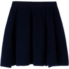 Maison Kitsuné Mini Skirt (135 AUD) ❤ liked on Polyvore featuring skirts, mini skirts, bottoms, dark blue, blue mini skirt, mini skirt, blue skirt, short skirts and zipper skirt