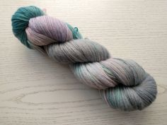 Hand dyed dk weight - pale green pink and grey lilac - wool - skein Best Ballpoint Pen, Lace Knitting, Knitting Patterns, Pink Grey, Lilac, Sock Yarn, Pretty Pastel, Hand Dyed Yarn, Shades Of Green