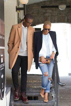A stylish couple