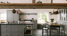 English Country Kitchens by deVOL – Blue and White Home Loft Kitchen, Kitchen And Bath, New Kitchen, Kitchen Dining, Kitchen Decor, Kitchen Pics, Barn Kitchen, Green Kitchen, Devol Shaker Kitchen