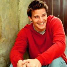 David Boreanaz- my old college crush..I had this exact picture on my corkboard forever!
