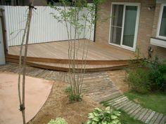 ヒノキのウッドデッキ。|ガーデニング・庭|デザイン・工事実績|BOSCO(ボスコ)