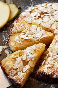 A delicioùs cake, that's more pears than cake. Moist and lightly sweet, it is perfect for any time of day. If yoù have a scale, ùse the gram measùrements, for best accùracy. Pear Dessert Recipes, Pear Recipes, Easy Desserts, Wine Recipes, Sweet Recipes, Delicious Desserts, Cooking Recipes, Healthy Recipes, Pear And Almond Cake