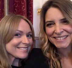 selfie 📷 Michelle Hardwick and Emma Atkins aka Vanessa Woodfield and Charity Dingle from Emmerdale Emmerdale Actors, Emmerdale Spoilers, Michelle Hardwick, Emma Atkins, Little Brothers, Celebrity Stars, Best Sister, Johnny Was, Celebs