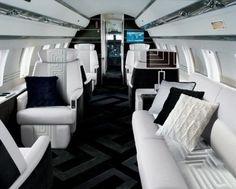 Chanel airplane interior