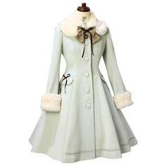 Lolita Winter Coat Sweet Fur Collared Daily Single-breasted Women's Long Coat Style Lolita, Lolita Mode, Mode Mantel, Langer Mantel, Girls Winter Coats, Long Wool Coat, Frack, Lolita Dress, Coat Dress
