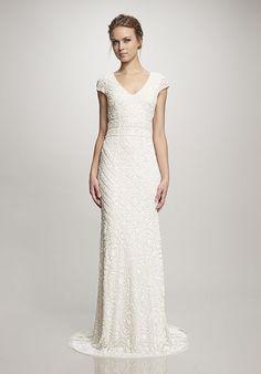 Theia Lilia A Line Wedding Dress Modest Affordable Dresses