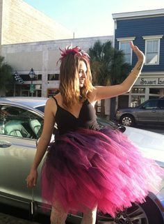 Hand Dyed Ombre Tutu Skirt Fuchsia Purple Black plus by pooftutus, $250.00