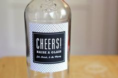 How to glue labels to glass bottles or jars using milk!