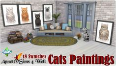 Sims 4 CC's - The Best: Cats Paintings by Annett85