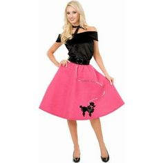 Poodle Skirt With Top & Scarf Adult Costume