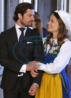 Carl Philip of Sweden and wife